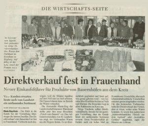 Presse - Direktverkauf fest in Frauenhand_1